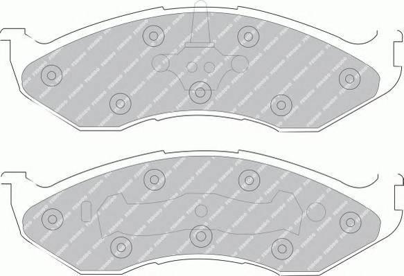 Тормозные колодки Тормозные колодки Ferodo PAGID арт. FDB929