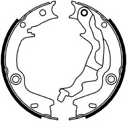 Тормозные колодки Гальмівні колодки, барабанні ABE арт. FSB4046