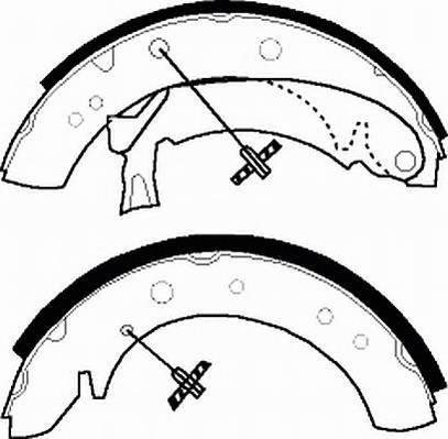 Тормозные колодки Тормозные колодки барабанные Ferodo ABE арт. FSB513