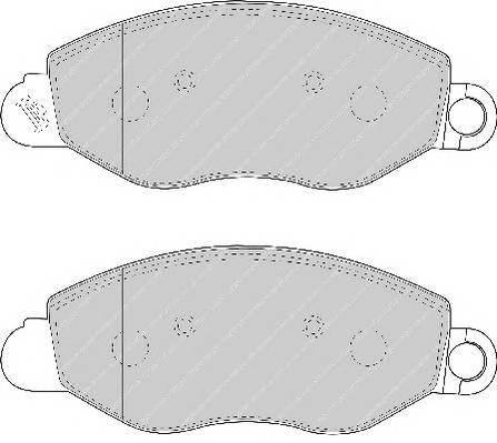 Тормозные колодки Тормозные колодки Ferodo ABE арт. FVR1461