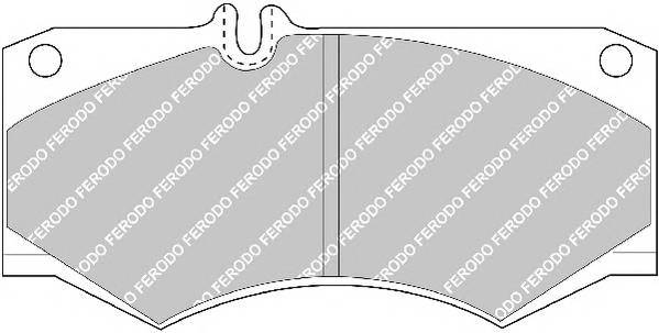 Тормозные колодки Тормозные колодки Ferodo PAGID арт. FVR239