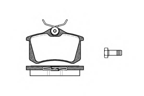 Тормозная система Гальмiвнi колодки, к-кт. PAGID арт. 226310
