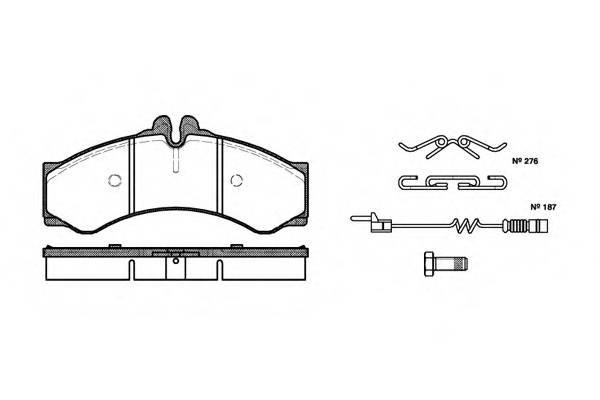 Тормозная система Гальмiвнi колодки, к-кт. PAGID арт. 261402