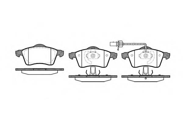 Тормозная система Гальмiвнi колодки, к-кт. PAGID арт. 261801