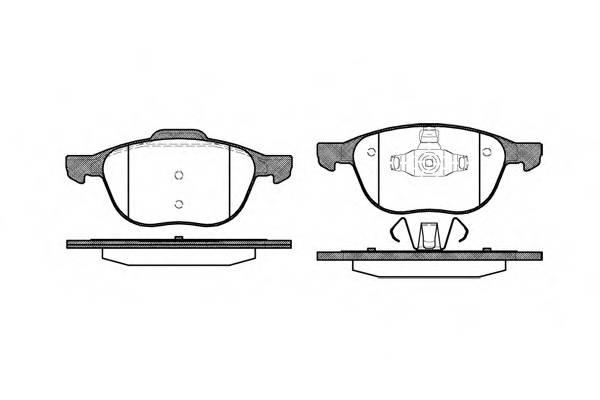 Тормозная система Гальмiвнi колодки, к-кт. PAGID арт. 2108200
