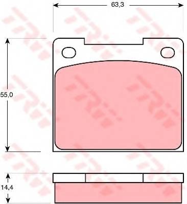 Тормозные колодки Тормозные колодки дисковые TRW арт. GDB533