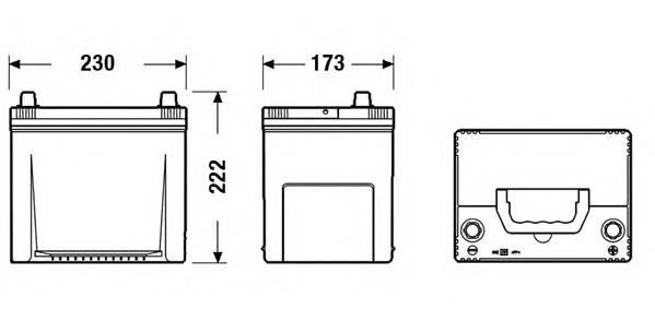 Аккумулятор TUDOR High-Tech 65 А/ч TA654 выс обр. 230x173x222 EN 580 TUDOR TA654