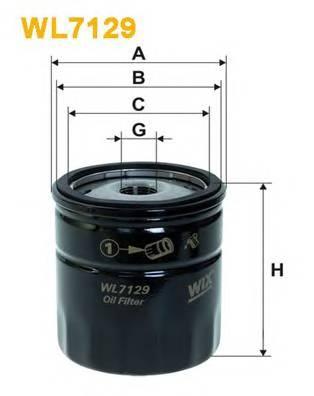 Фильтр масляный  Lanos/Aveo(OP 570) BOSCH арт. WL7129