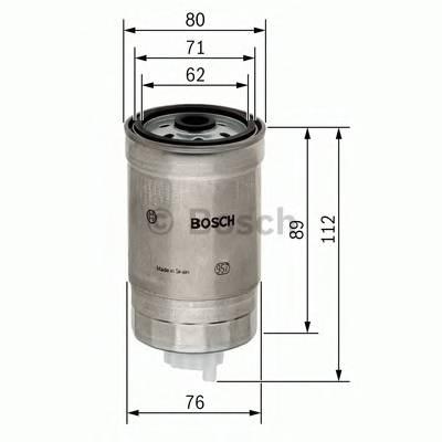 Топливные фильтры Топливный фильтр диз BOSCH арт. 1457434291