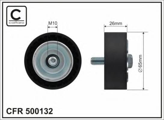 65x10x26,5 Ролик генератора MB Sprinter 2.2CDI 06- CAFFARO 500132