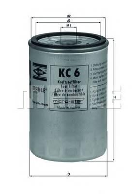 Паливний фільтр BOSCH арт. KC6