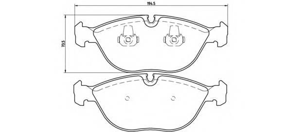 Тормозная система Гальмiвнi колодки, к-кт. PAGID арт. P06019