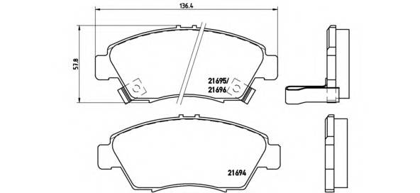 Тормозная система Гальмiвнi колодки, к-кт. PAGID арт. P28023