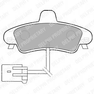 Гальмівні колодки, дискові PAGID арт. LP1683