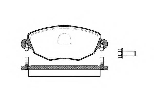 Тормозная система Гальмiвнi колодки, к-кт. PAGID арт. 277600