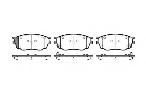 Тормозная система Гальмiвнi колодки, к-кт. PAGID арт. 280022
