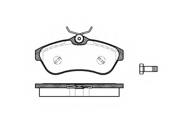 Тормозная система Гальмiвнi колодки, к-кт. PAGID арт. 288000