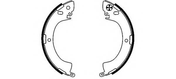 Тормозные колодки 254X50 Тормозные колодки ABE арт. H8305