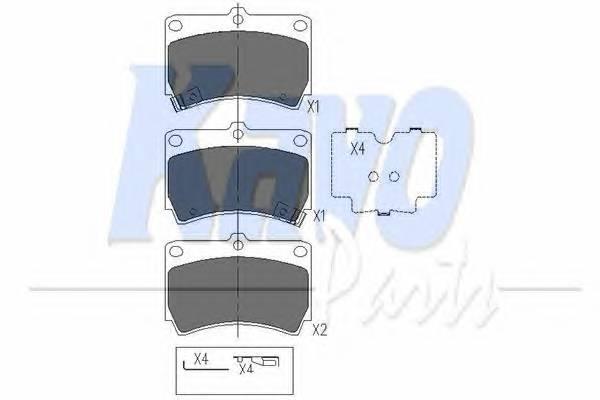 Тормозные колодки Тормозные колодки дисковые KAVOPARTS арт. KBP4501