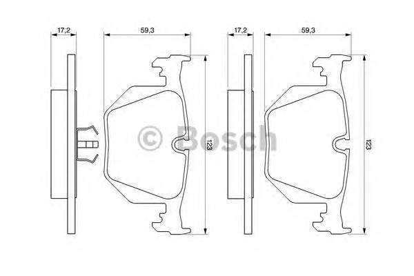Тормозные колодки Тормозные колодки Bosch PAGID арт. 0986494006