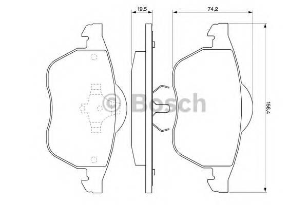 Тормозные колодки Тормозные колодки Bosch PAGID арт. 0986424481