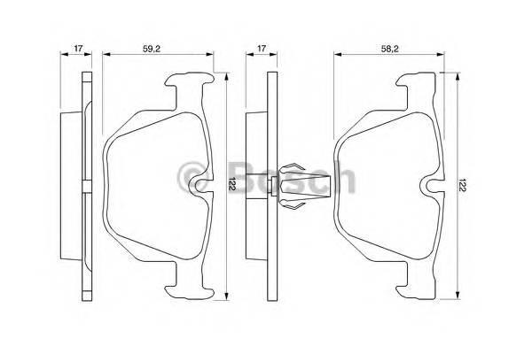 Тормозные колодки Тормозные колодки Bosch PAGID арт. 0986424766