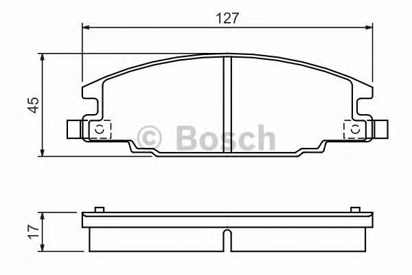 Тормозные колодки Тормозные колодки Bosch ABE арт. 0986460960