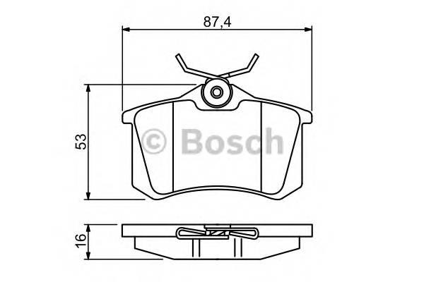 Тормозные колодки Тормозные колодки Bosch PAGID арт. 0986494387