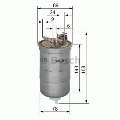 Топливные фильтры Топливный фильтр диз BOSCH арт. 0450906383