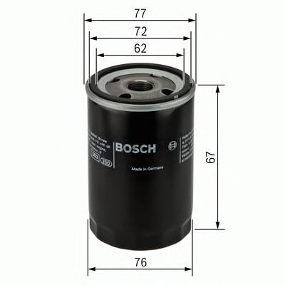Масляные фильтры Фільтр масляний BOSCH арт. 0451103300