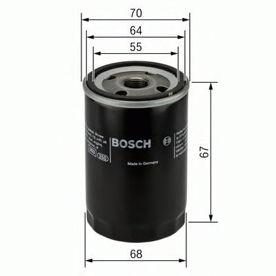 Масляные фильтры Фільтр масляний BOSCH арт. 0986452058