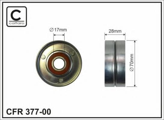 Ролік (метал 70x17x28) до натяжника паска генератора Nissan Qashqa MR20DE 06- CAFFARO 37700