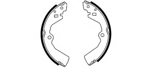 Тормозные колодки Тормозные колодки барабанные ABE арт. 91040400