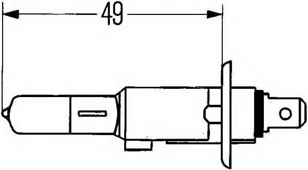 H1 12V- 55W (P14,5s) (белый свет-голуб.оттен.) BlueLight HELLA 8GH002089141