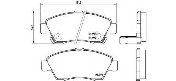 Тормозная система Гальмiвнi колодки, к-кт. PAGID арт. P28024