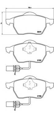 Тормозные колодки Тормозные колодки Brembo PAGID арт. P85037