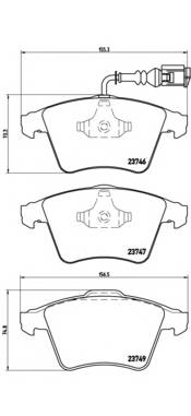 Тормозные колодки Тормозные колодки Brembo PAGID арт. P85081