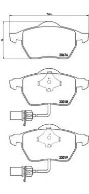 Тормозные колодки Тормозные колодки Brembo PAGID арт. P85085