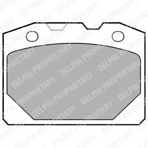 Гальмівні колодки, дискові PAGID арт. LP92