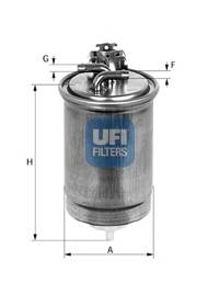 Фильтр топливный Brava 1.9TD (с клапаном 46537385) UFI 2441800