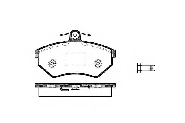 Тормозная система Гальмiвнi колодки, к-кт. PAGID арт. 213440