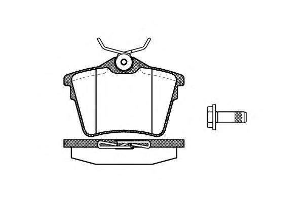 Тормозная система Гальмiвнi колодки, к-кт. PAGID арт. 2110300