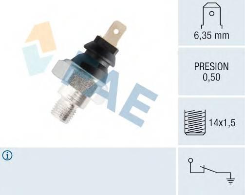 Датчик давления масла; 0,50; M14x1,5 FAE 12250