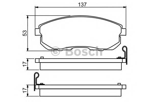 Тормозные колодки Тормозные колодки Bosch ABE арт. 0986494277