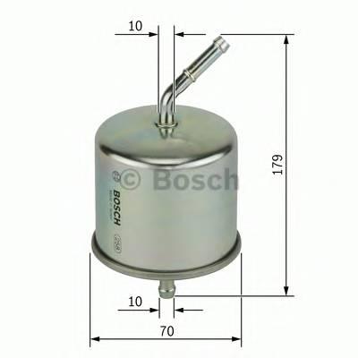 Топливные фильтры Топливный фильтр бенз BOSCH арт. 0986450102