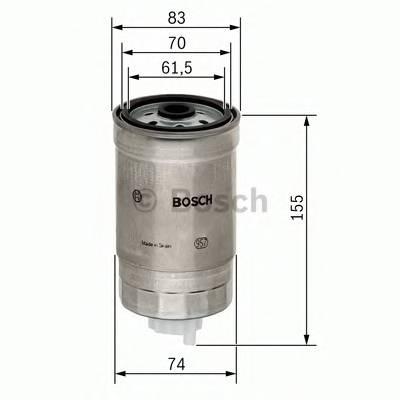 Топливные фильтры Топливный фильтр диз BOSCH арт. 1457434025