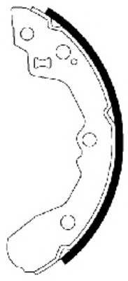 Тормозные колодки Тормозные колодки барабанные ABE арт. 91065000