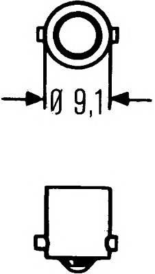 T6W 12V-6W (BA9s) HELLA 8GP007676121