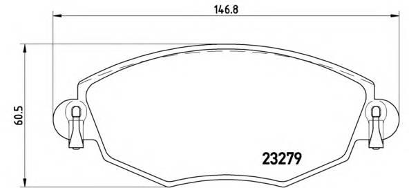 Тормозные колодки Тормозные колодки Brembo PAGID арт. P24060