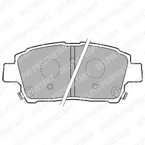Гальмівні колодки, дискові ABE арт. LP1742